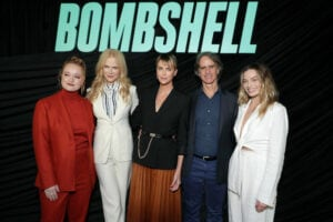Liv Hewson, Nicole Kidman, Charlize Theron, Jay Roach and Margot Robbie at the 'Bombshell' screening