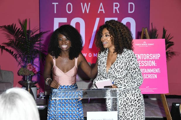 Natasha Ofili and Simone Missick at the Power Women Summit 2019