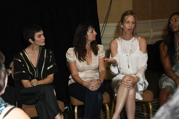 Alyson Stoner, Elisa Parker and Tabby Biddle at the Power Women Summit 2019