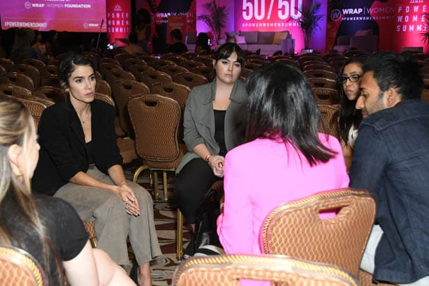 Nikki Reed mentorship session at the Power Women Summit 2019