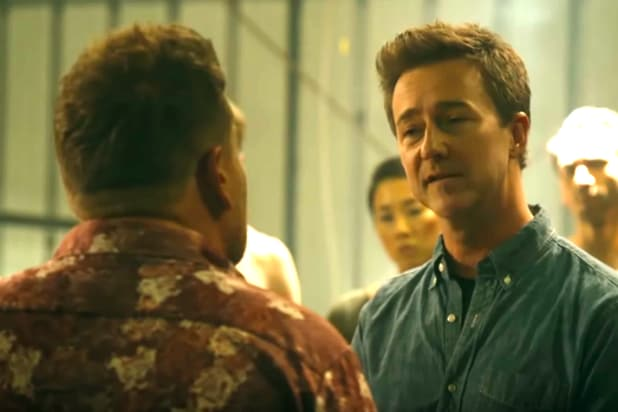 Edward Norton in Late Late Show Fight Club