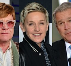 Elton John Ellen DeGeneres George W Bush