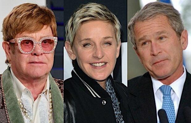 Elton John Defends Ellen DeGeneres' Friendship With George W