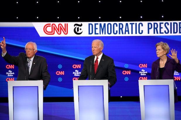 Bernie Sanders, Joe Biden, Elizabeth Warren