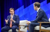 Anthony Scaramucci speaks with Gabriel Sherman at Vanity Fair's New Establishment Summit 2019