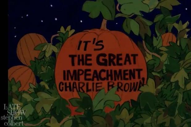 Great Impeachment Charlie Brown Colbert Trump