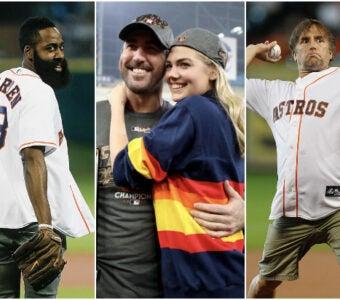 Celebrity Houston Astros Fans James Harden Kate Upton Justin Verlander Richard Linklater