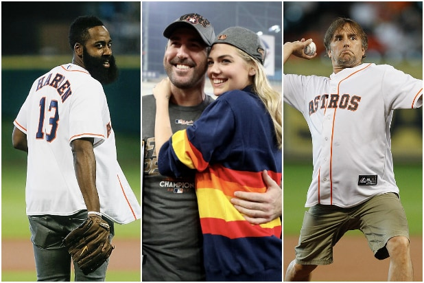 Celebrity Houston Astros Fans James Harden Kate Upton Justin Verlander Richard Linklater
