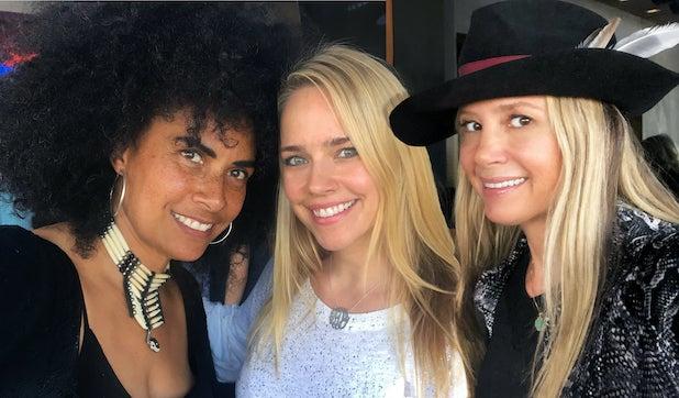 Lili Bernard, Jessica Barth, and Mira Sorvino