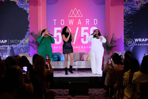 Angela Birchett, Shelea Frazier and Christina Bell at the Power Women Summit 2019