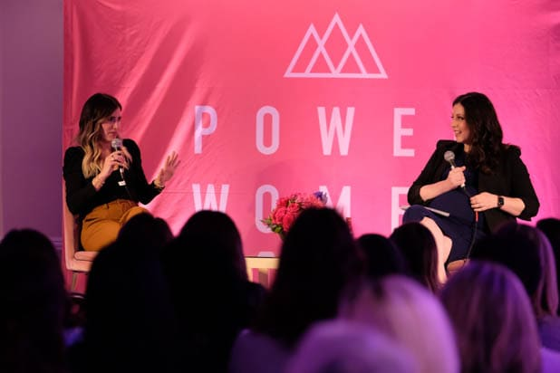 Alli Webb and Carolyn Kylstra at the Power Women Summit 2019