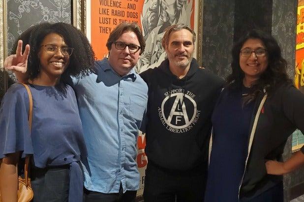 Joaquin Phoenix Joker screening