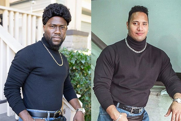 Kevin Hart Recreates Dwayne Johnson S Iconic Fanny Pack Outfit