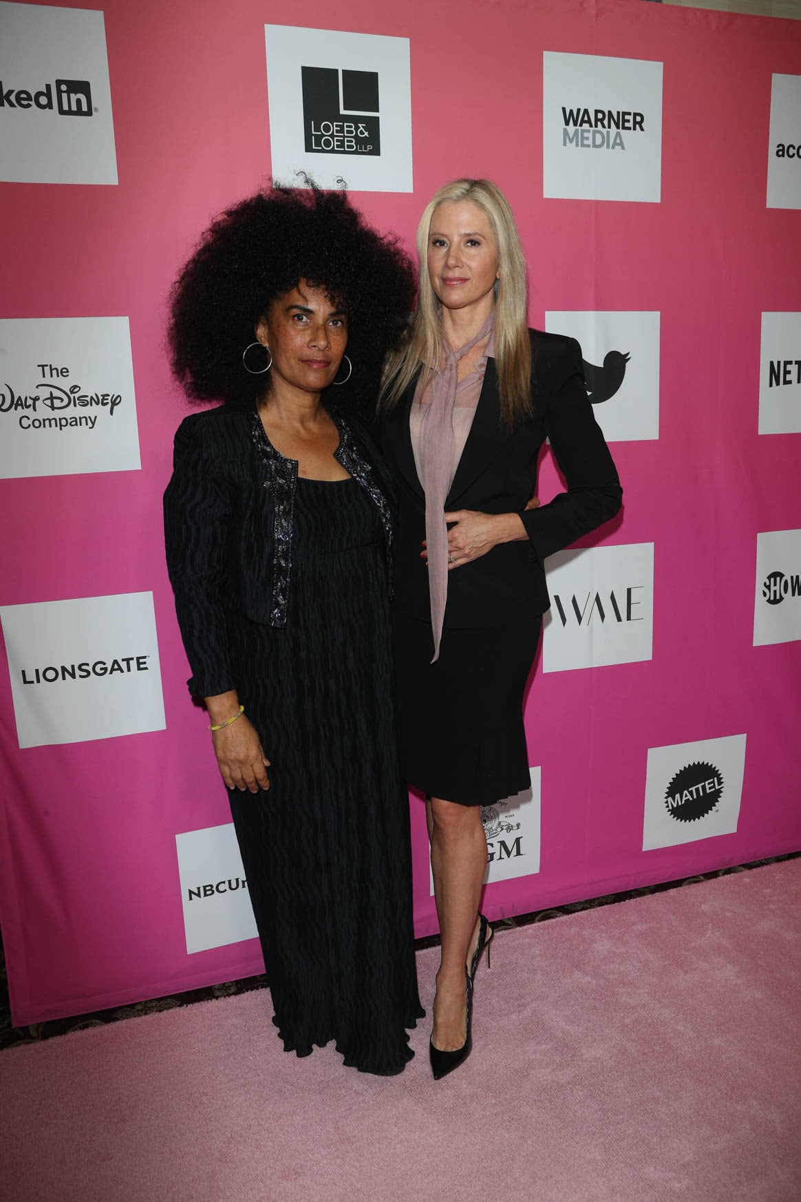 Lili Bernard and Mira Sorvino at the Power Women Summit 2019