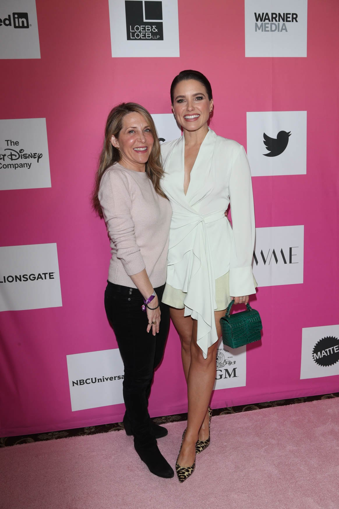 Jessica Yellin and Sophia Bush at the Power Women Summit 2019