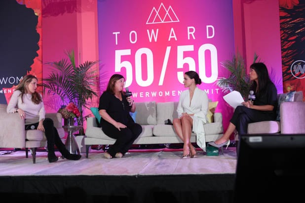 Jessica Yellin, Lara Cohen, Sophia Bush and Melissa Magsaysay at the Power Women Summit 2019