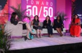 Nancy Josephson, Jennifer Caserta, Cara Stein, Alicin Reidy Williamson and Dalana Brand at the Power Women Summit 2019
