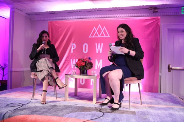Jenna Dewan and Carolyn Kylstra at the Power Women Summit 2019
