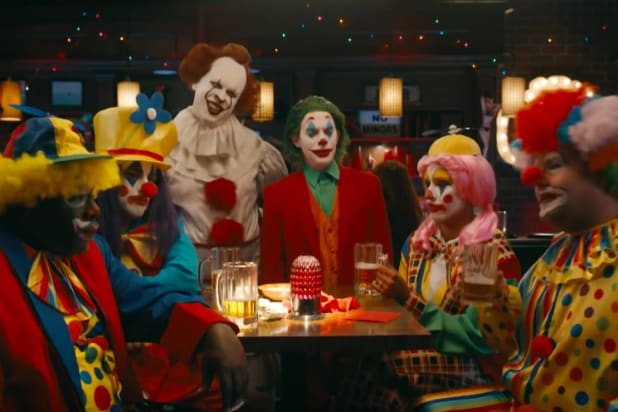 Watch Joker, Pennywise Beat the Giant Shoes Off of James Corden and Other Regular Clowns (Video)