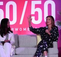 Aimee Allison and Alysia Reiner at the Power Women Summit 2019