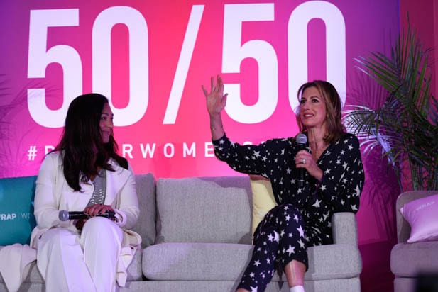 Aimee Allison and Alysia Reiner at the Power Women Summit 2019