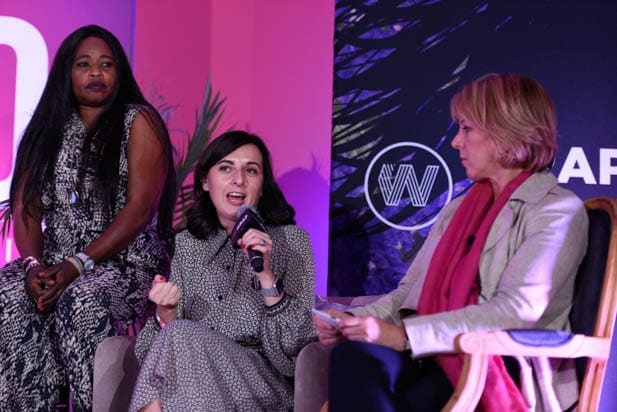 Nastya Stanko and Sharon Waxman at the Power Women Summit 2019