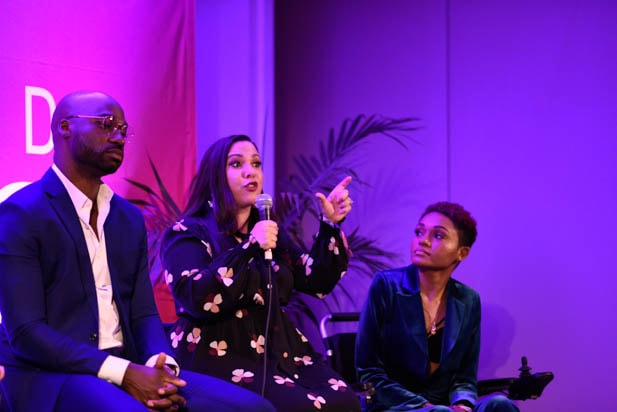 Bryan Smiley, Gloria Calderón Kellett and Lolo Spencer at the Power Women Summit 2019