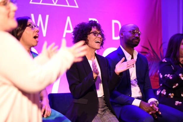 Ava Greenfield, Stephanie Allain and Bryan Smiley at the Power Women Summit 2019