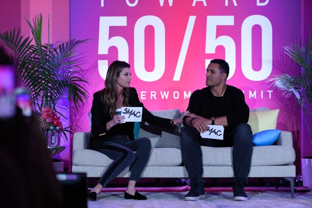 Erin Andrews and Tony Gonzalez at the power women summit 2019