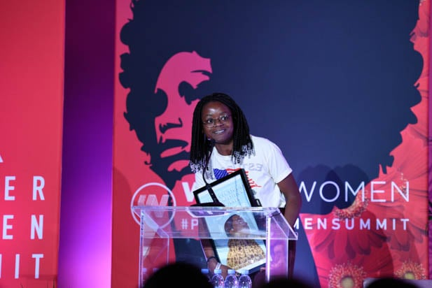 Crystal Kayiza at the power women summit 2019