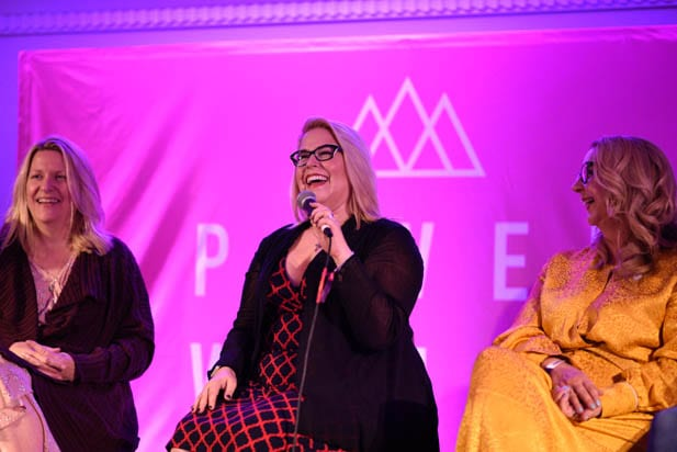 Karen Baker Landers, Karol Urban and Mary DeChambres at the power women summit 2019