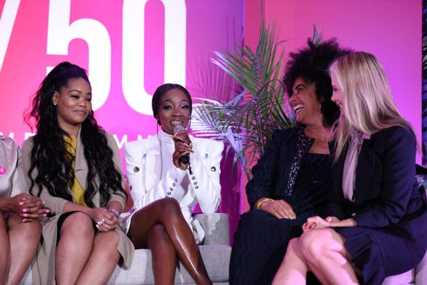 Kitti Jones, Faith Rodgers, Lili Bernard and Mira Sorvino at the power women summit 2019