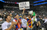 Free Tibet Activists Protests Brooklyn Nets Toronto Raptors NBA Game