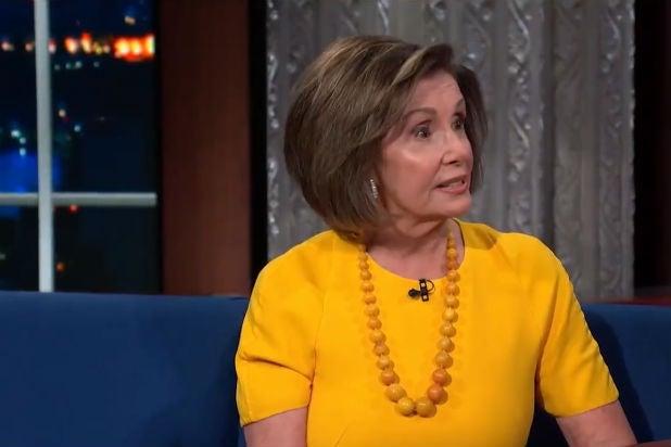 Nancy Pelosi Stephen Colbert Trump Impeachment