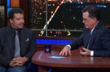 Neil deGrasse Tyson and Stephen Colbert