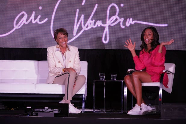 Robin Roberts and Cari Champion