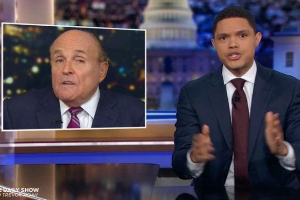 Rudy Giuliani Trevor Noah Daily Show
