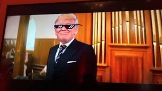 trump violent video