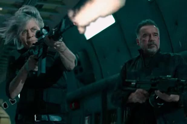 Arnold Schwarzenegger Linda Hamilton Terminator Dark Fate(1)