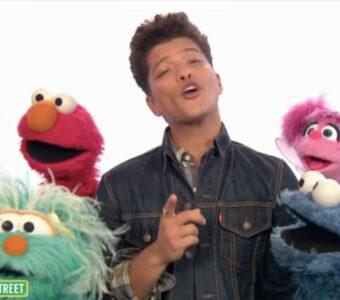 Bruno Mars Sesame Street