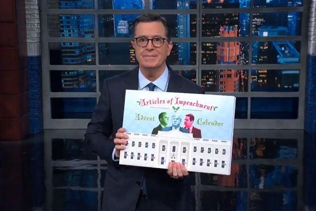 Colbert Impeachment Advent Calendar Trump