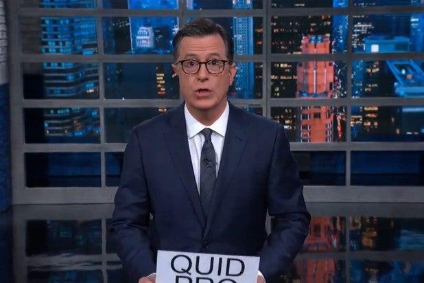 Colbert Lindsey Graham Trump Impeachment Quid Pro Quo