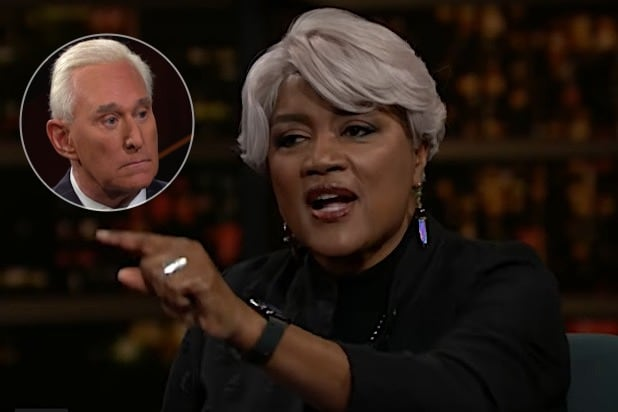 Former DNC Chair Donna Brazile Tells Bill Maher She Hopes Roger Stone 'Roasts In Hell'