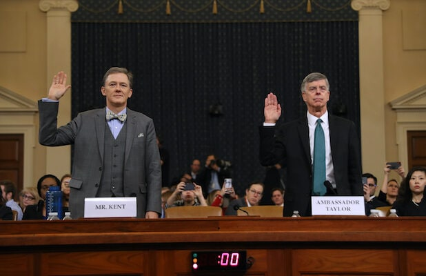 George Kent, William Taylor sworn in during impeachment inquiry hearing on Nov. 13