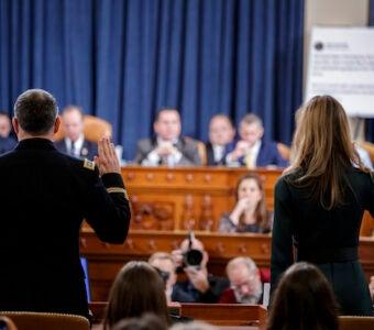 Lt. Col. Alexander Vindman, Jennifer Williams at impeachment hearing