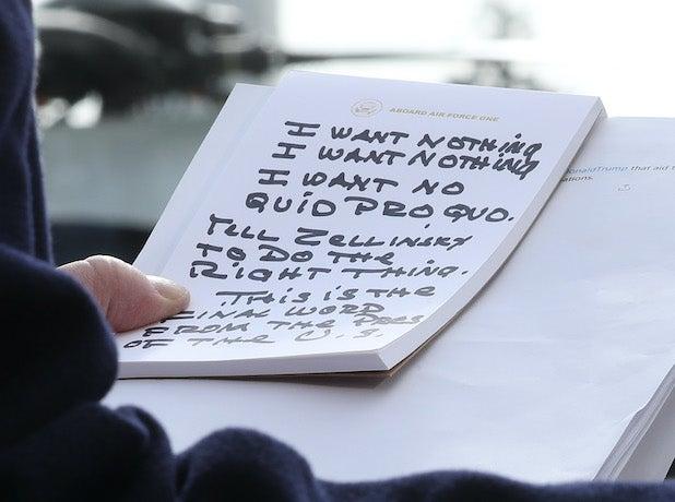 Donald Trump notes