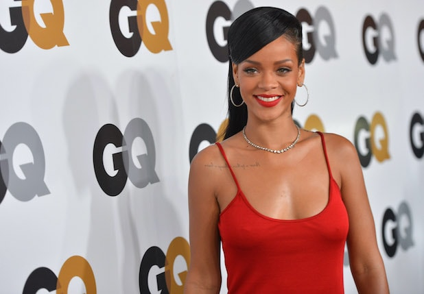 Rihanna, pictured at the GQ Men of the Year party in 2012