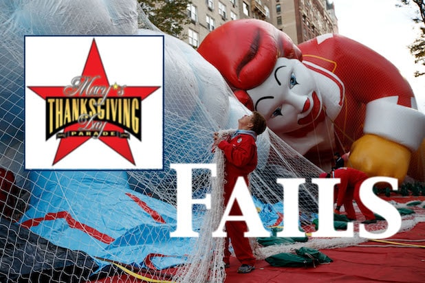 Giant Balloons Inflated Ahead Of Macy's Thanksgiving Day Parade Fails