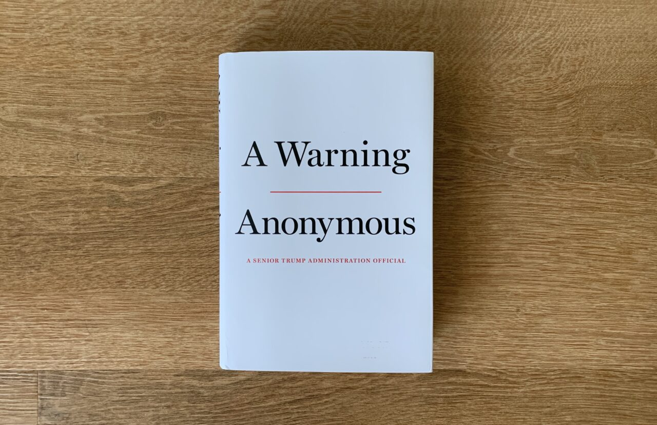 Anonymous' 'A Warning' Boots Donald Trump Jr's Book From Atop NY Times Best-Seller List