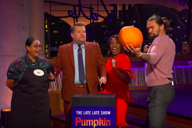Jason Momoa Has No Time for Your Crappy Pumpkin Carvings (Video)